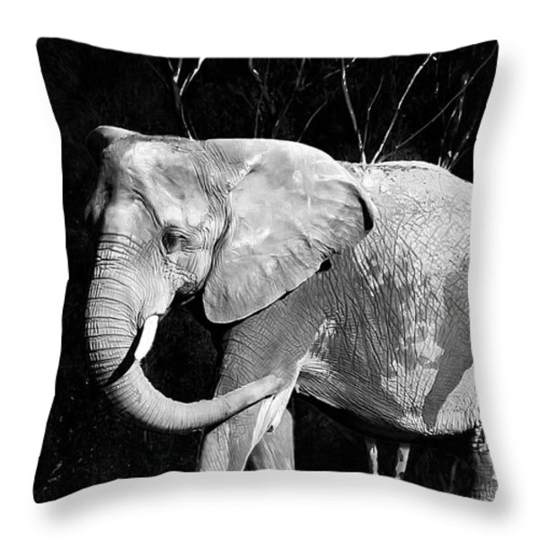 elephant Throw Pillow by Camille Lopez