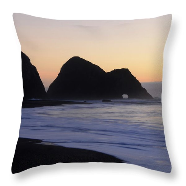 Elk Beach California Throw Pillow by Bob Christopher