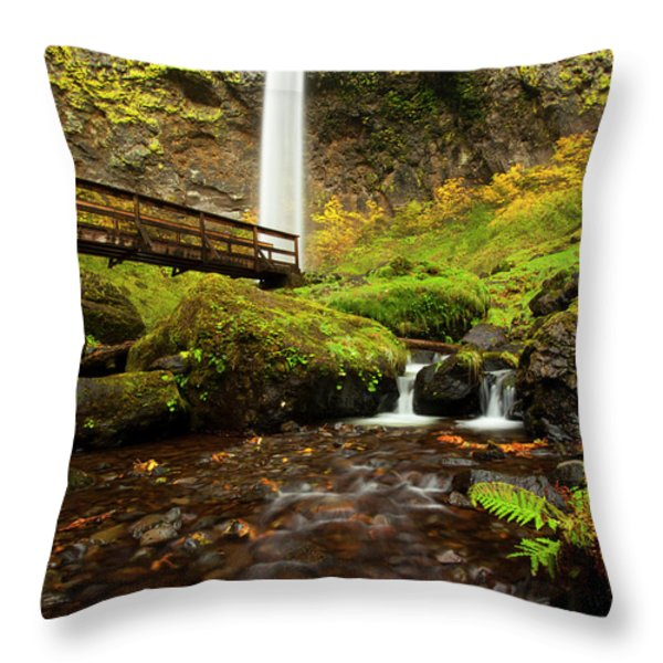 Elowah Perspective Throw Pillow by Mike  Dawson