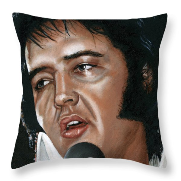 Elvis 24 1975 Throw Pillow by Rob De Vries