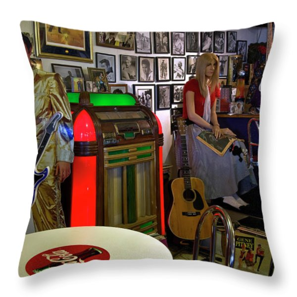 Elvis Lives Throw Pillow by Murray Bloom