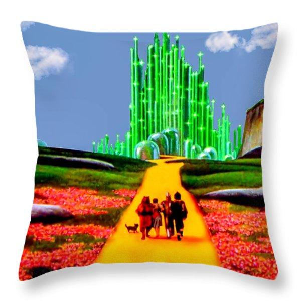 EMERALD CITY Throw Pillow by Tom Zukauskas