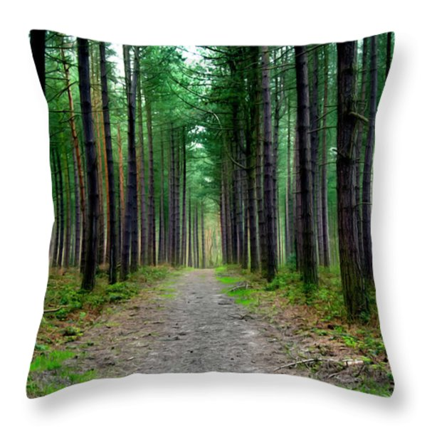 Emerald Forest Throw Pillow by Svetlana Sewell