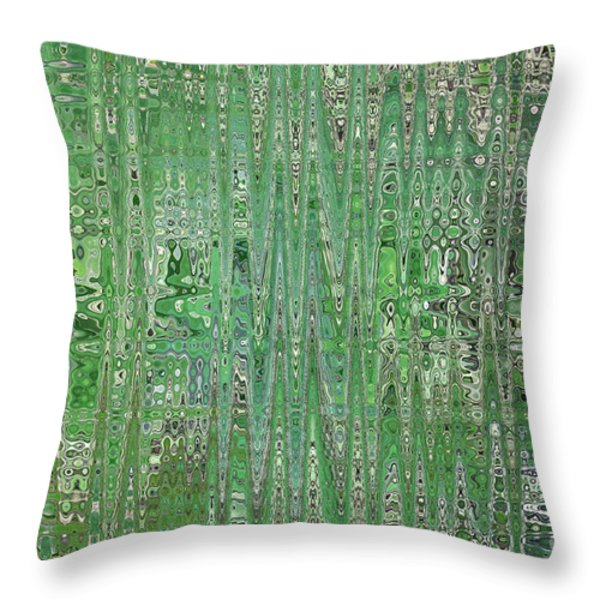 Emerald Green - Abstract Art Throw Pillow by Carol Groenen