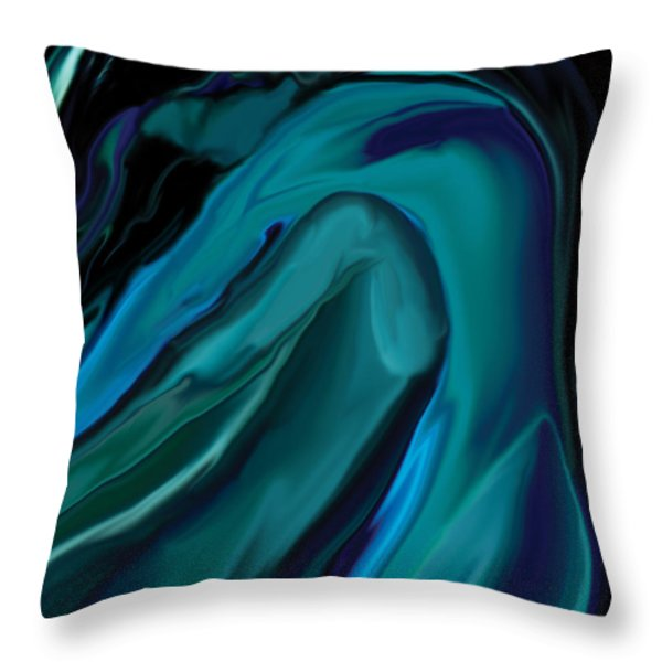 Emerald Love Throw Pillow by Rabi Khan