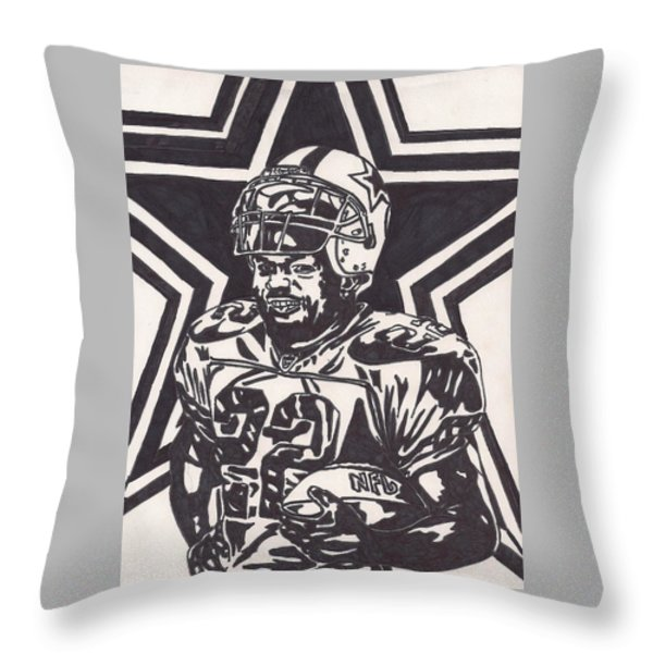 Emmitt Smith Throw Pillow by Jeremiah Colley