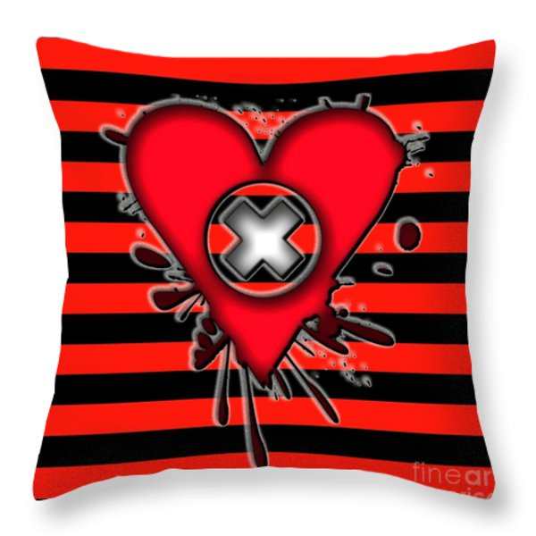 Emo Love Throw Pillow by Roseanne Jones