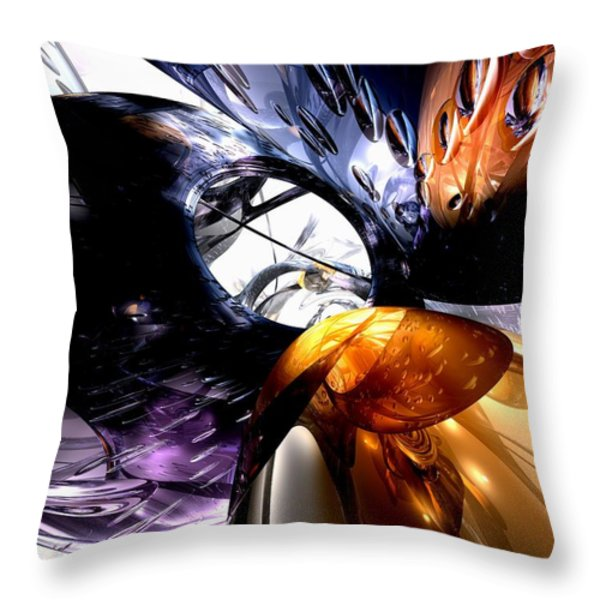 Emotional Scars Abstract Throw Pillow by Alexander Butler