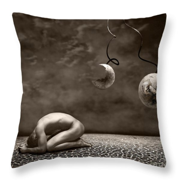Emptiness Throw Pillow by Photodream Art