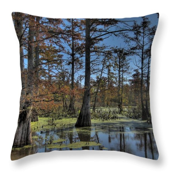 Enchanted Forest Throw Pillow by Jane Linders