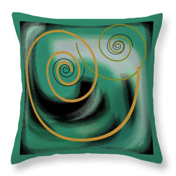 Encounter Throw Pillow by Ben and Raisa Gertsberg