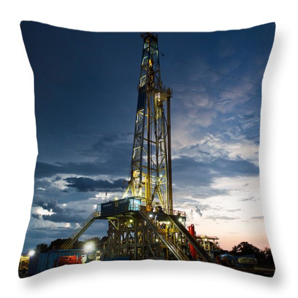 End Of The Hitch Throw Pillow by Jonas Wingfield