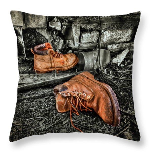 End Of The Road Throw Pillow by Evelina Kremsdorf