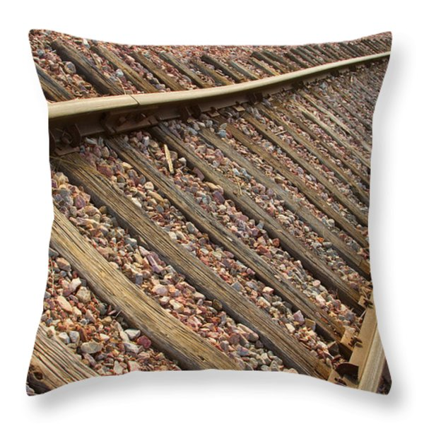 End of the Tracks Throw Pillow by James BO  Insogna
