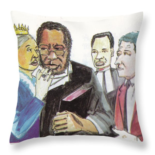 England Queen with Ajayi Crowther Throw Pillow by Emmanuel Baliyanga
