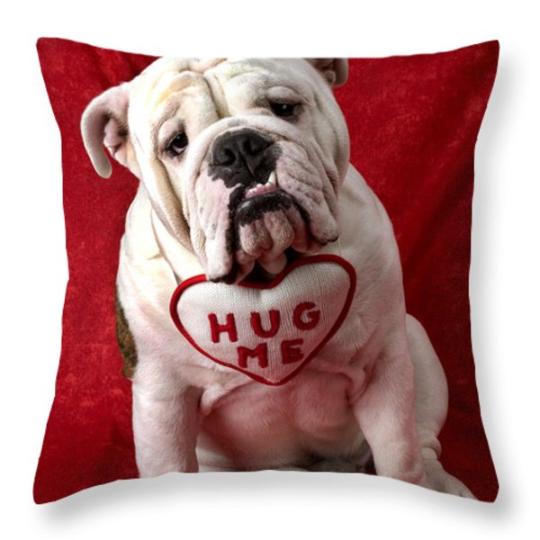 English Bulldog Throw Pillow by Garry Gay