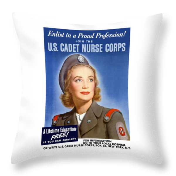 Enlist In A Proud Profession Throw Pillow by War Is Hell Store