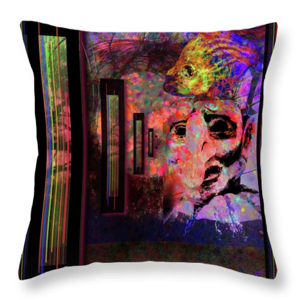 ENTER SANDMAN Throw Pillow by Mimulux patricia no