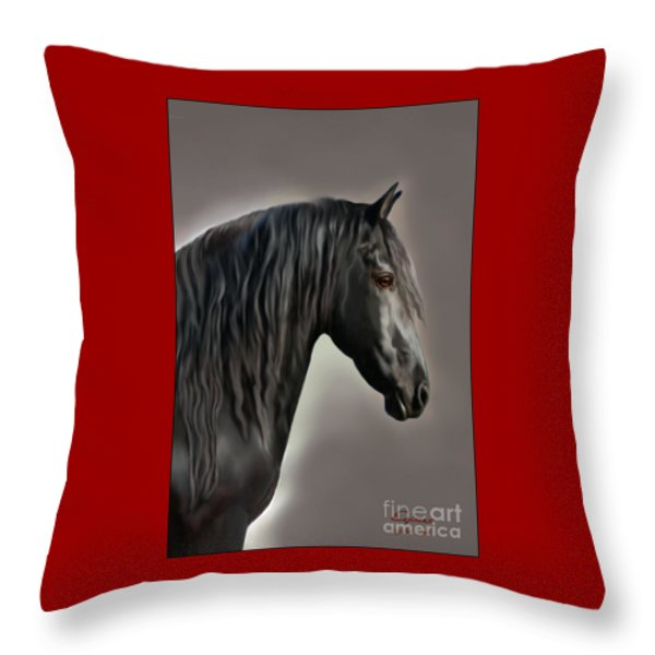 Equus Throw Pillow by Corey Ford