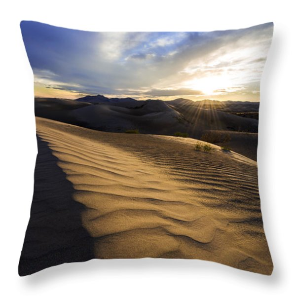 Evening Ripples Throw Pillow by Chad Dutson