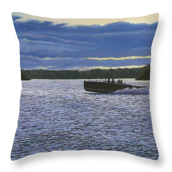 Evening Run Throw Pillow by Richard De Wolfe