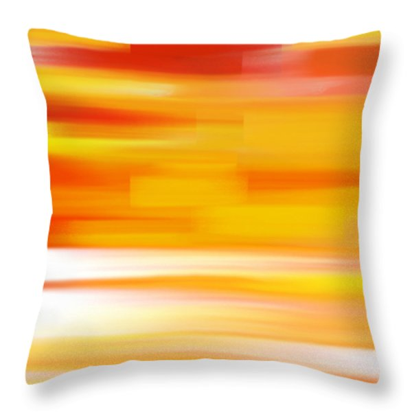 Throw Pillow featuring the painting Evening Sea by Frank Tschakert