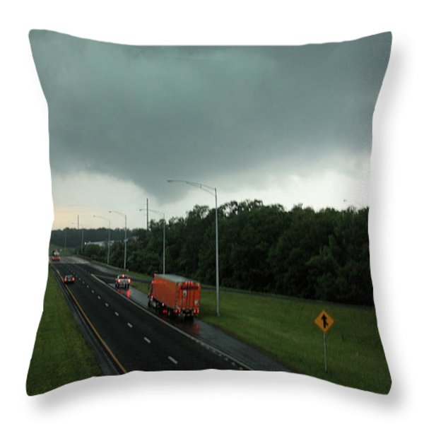 Evil Skies... Throw Pillow by Rick Lipscomb