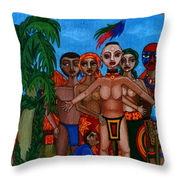 Exiled In Homeland Throw Pillow by Madalena Lobao-Tello