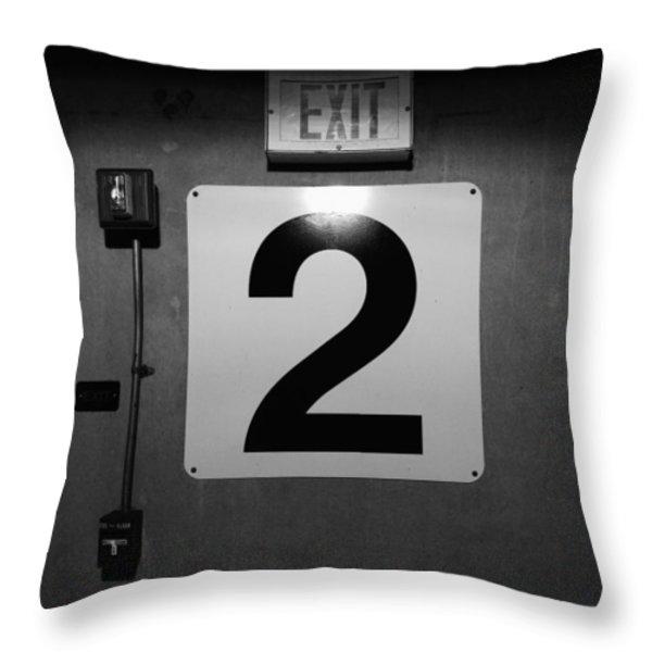 Exit Two Throw Pillow by Bob Orsillo