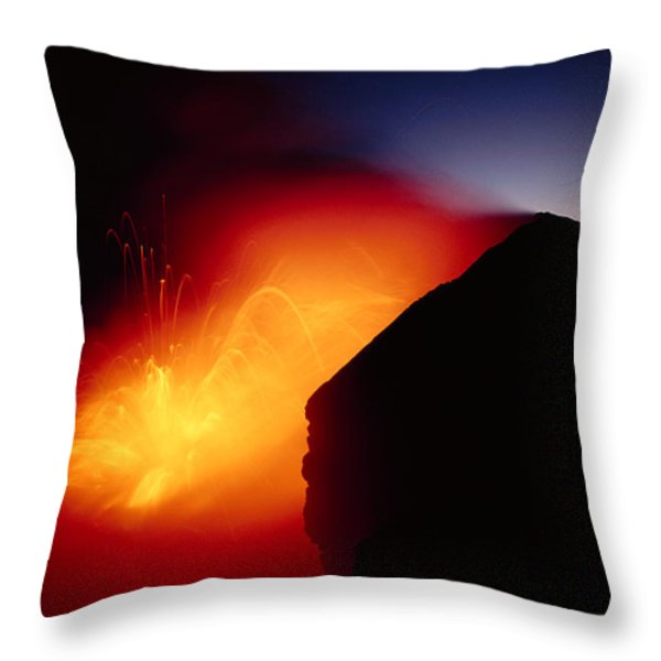 Explosion At Twilight Throw Pillow by William Waterfall - Printscapes