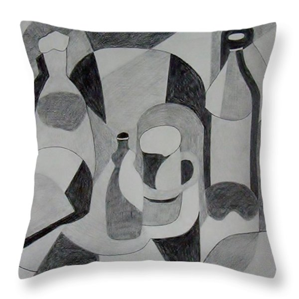 Extended Line Throw Pillow by Jamie Frier