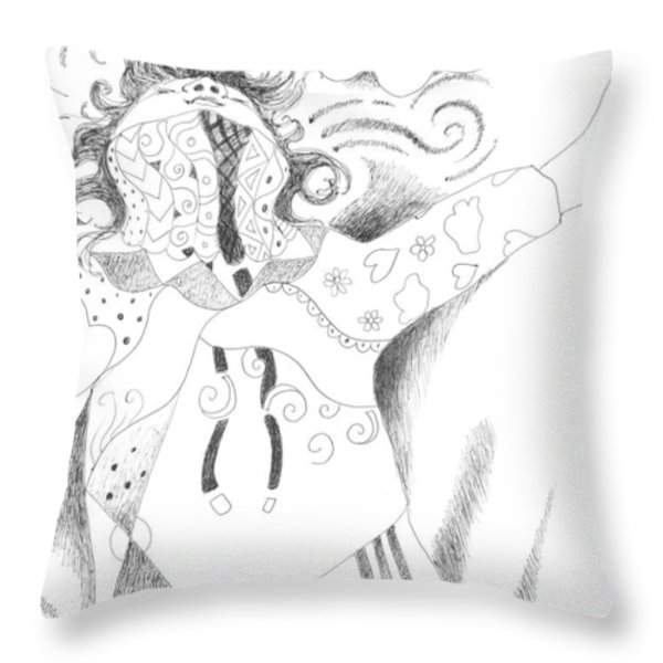 Exuberance Throw Pillow by Helena Tiainen