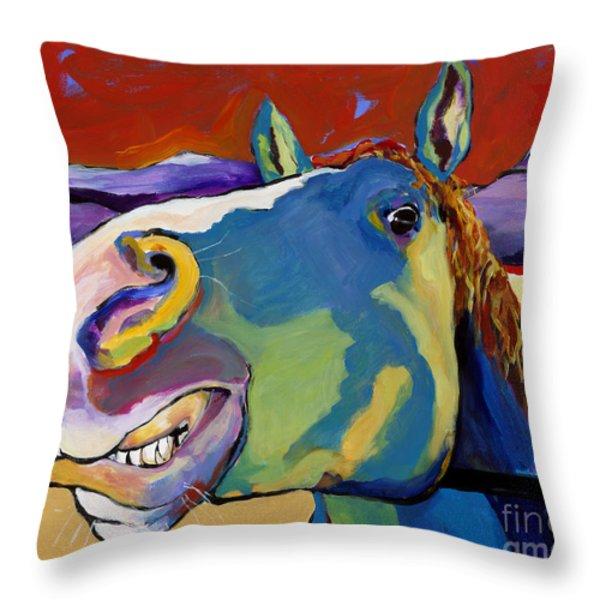 Eye To Eye Throw Pillow by Pat Saunders-White