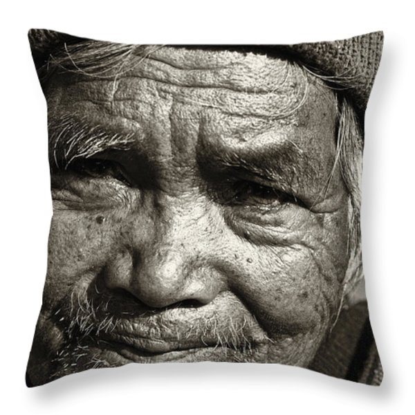 Eyes Of Soul 2 Throw Pillow by Skip Nall
