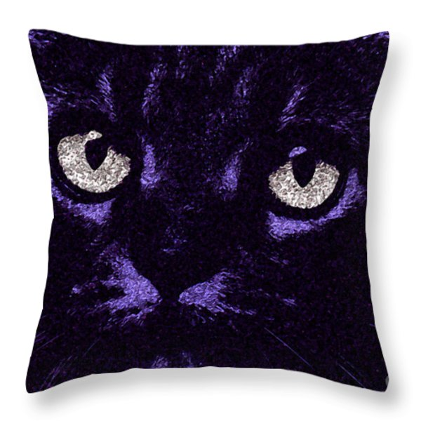 Eyes Straight To The Heart Throw Pillow by Andee Design