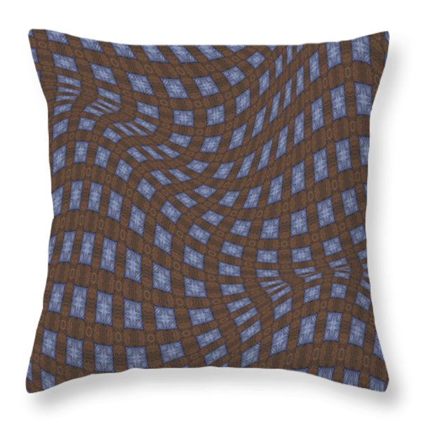 Fabric Design 17 Throw Pillow by Karen Musick