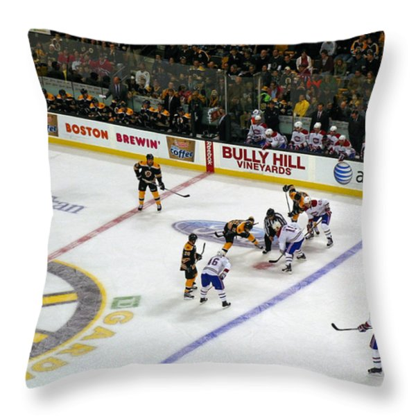 Face-off Throw Pillow by Juergen Roth