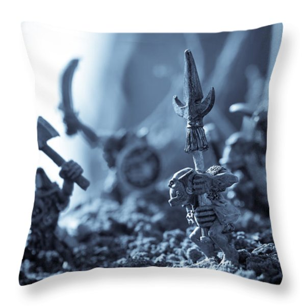 Facing The Enemy Throw Pillow by Marc Garrido