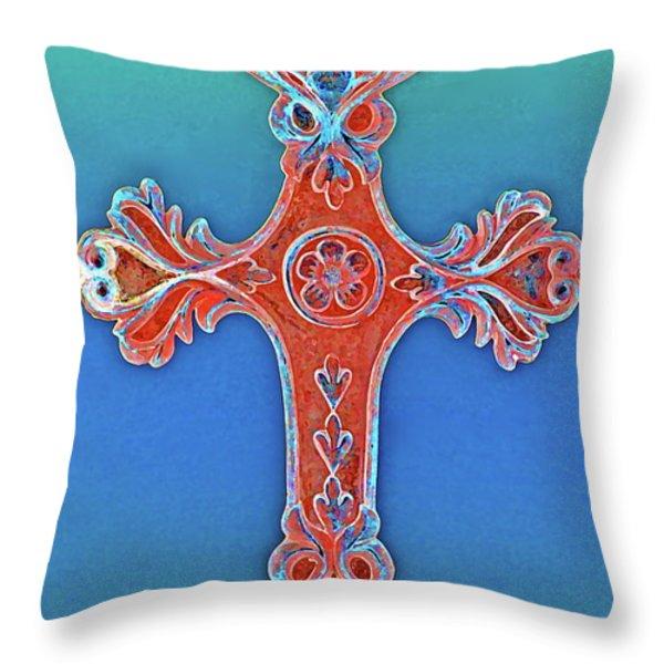 Faith Throw Pillow by Gwyn Newcombe