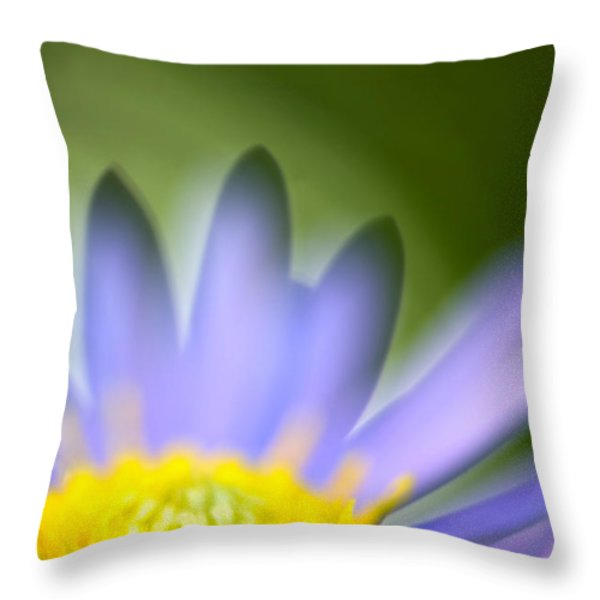 Fall Flower Throw Pillow by Silke Magino
