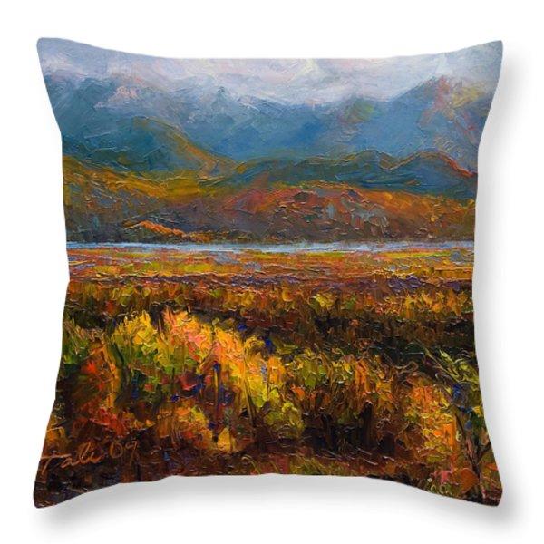 Fall Throw Pillow by Talya Johnson
