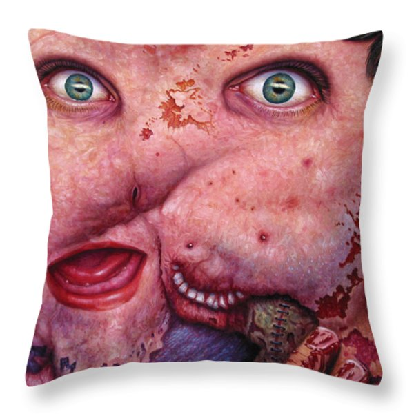 Falling Apart Throw Pillow by James W Johnson
