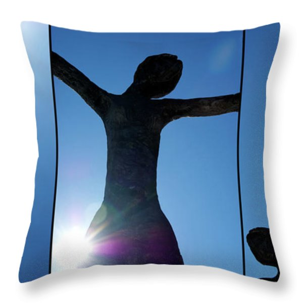 Family of Man Throw Pillow by Lisa Knechtel