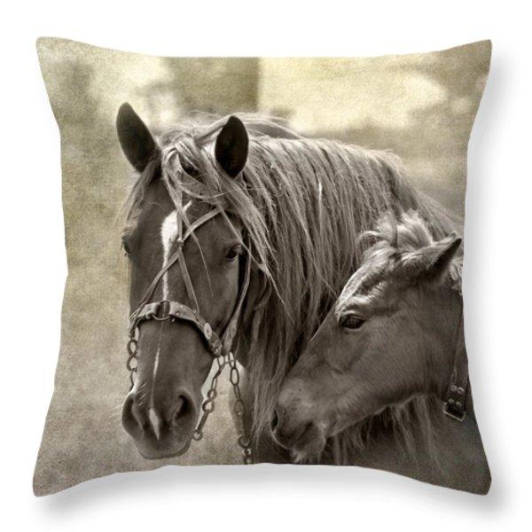 Family Ties Throw Pillow by Evelina Kremsdorf