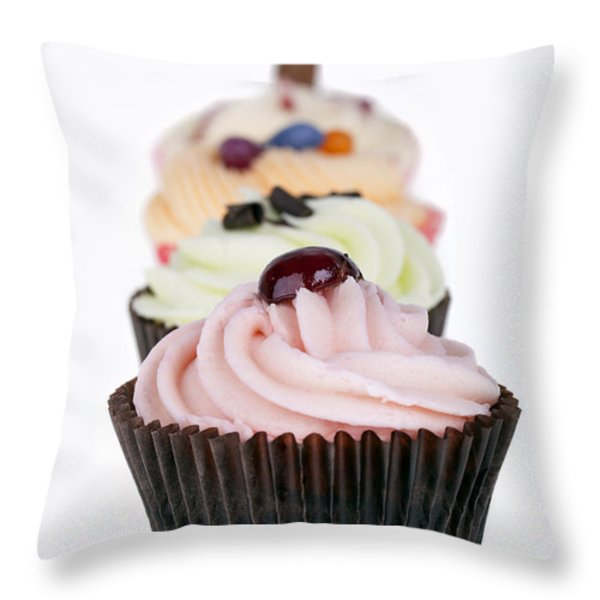 Fancy cupcakes Throw Pillow by Jane Rix