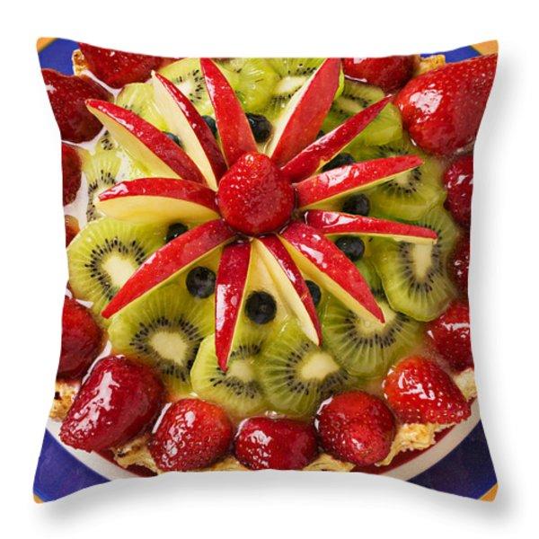 Fancy tart pie Throw Pillow by Garry Gay