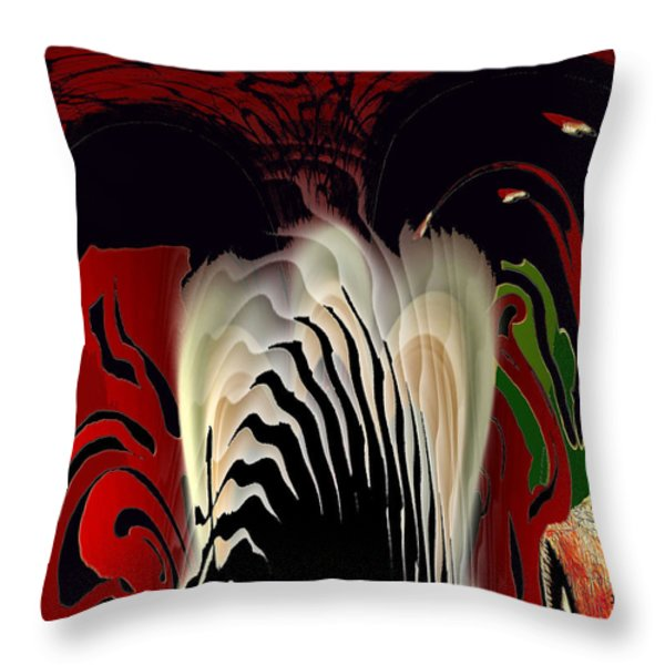 Fantasy Abstract Throw Pillow by Natalie Holland