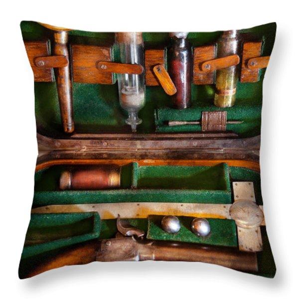 Fantasy - Emergency Vampire Kit  Throw Pillow by Mike Savad