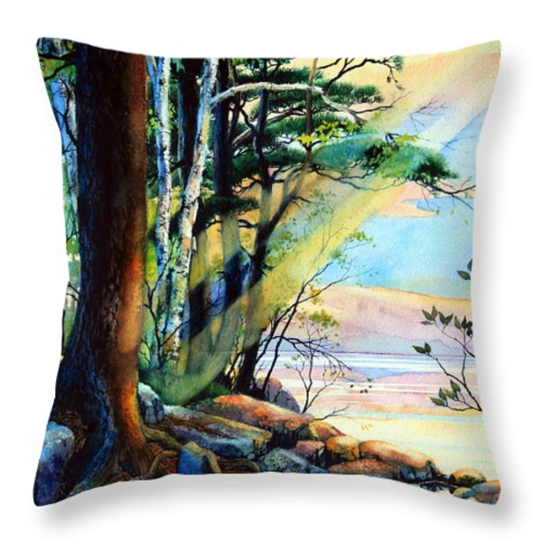 Fantasy Island Throw Pillow by Hanne Lore Koehler