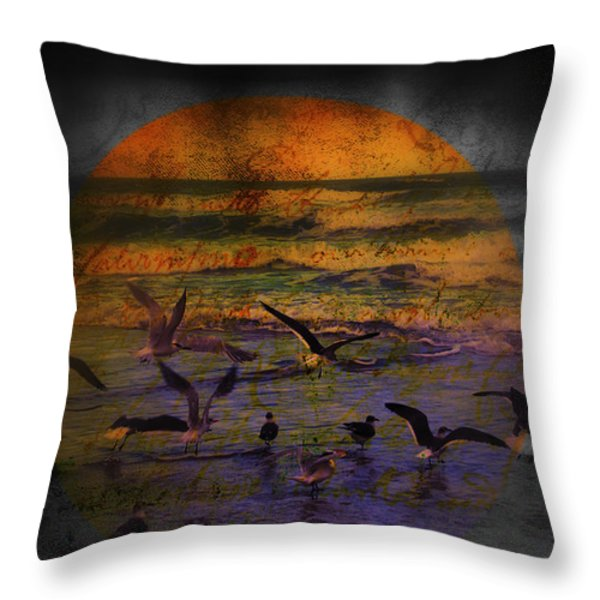 Fantasy Wings Throw Pillow by Susanne Van Hulst